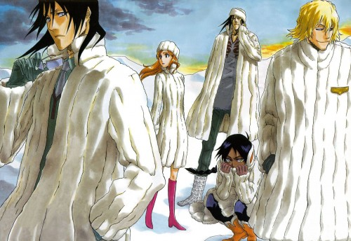 Kubo Tite, Bleach, Byakuya Kuchiki, Orihime Inoue, Kenpachi Zaraki