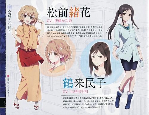 P.A. Works, Hanasaku Iroha, Ohana Matsumae, Minko Tsurugi, Character Sheet