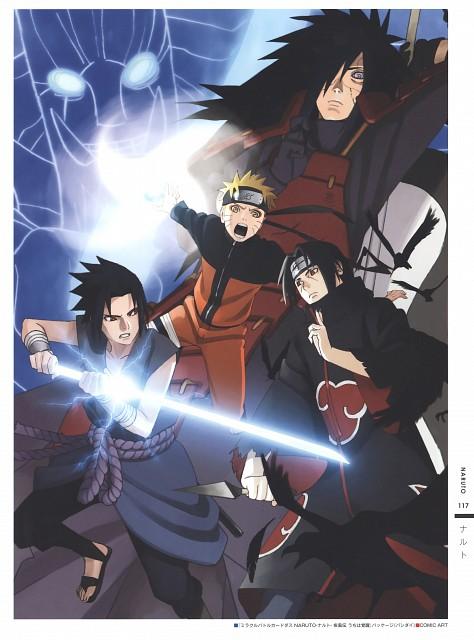 Naruto, The Art of Tetsuya Nishio: Full Spectrum, Sasuke Uchiha, Itachi Uchiha, Madara Uchiha