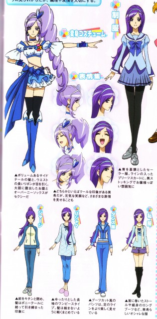 Toei Animation, Fresh Precure!, Miki Aono, Cure Berry, Character Sheet