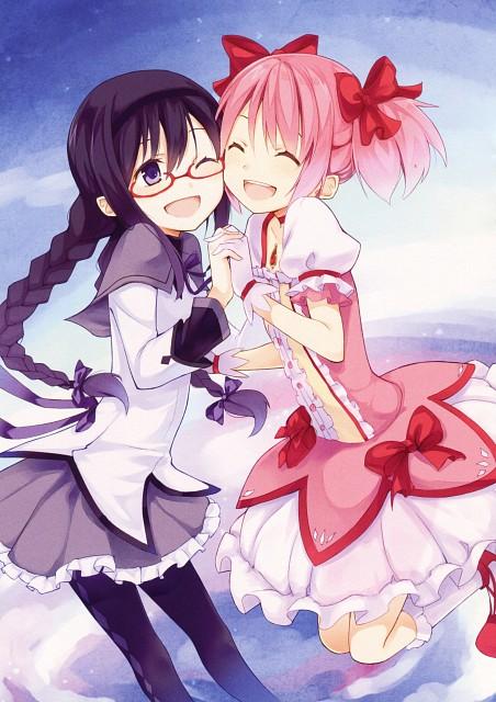 Kyuri, Puella Magi Madoka Magica, Girls Log Vol. 2, Homura Akemi, Madoka Kaname