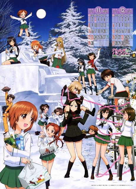 Actas, GIRLS und PANZER, GIRLS und PANZER 2015 Calendar, Momo Kawashima, Takako Suzuki