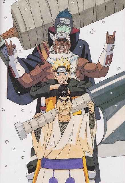 Masashi Kishimoto, Naruto, NARUTO Illustrations, Naruto Uzumaki, Kisame Hoshigaki