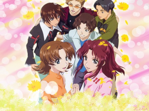 Sunrise (Studio), Mobile Suit Gundam SEED, Miriallia Haw, Kuzzey Buskirk, Fllay Allster Wallpaper