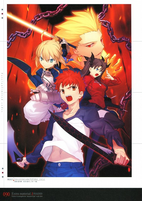 Takashi Takeuchi, TYPE-MOON, Fate/complete material IV Extra material., Fate/stay night, Saber