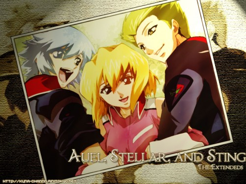 Sunrise (Studio), Mobile Suit Gundam SEED Destiny, Auel Neider, Sting Oakley, Stellar Loussier Wallpaper