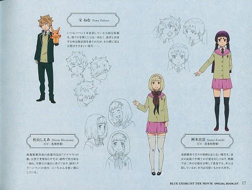 A-1 Pictures, Ao no Exorcist, Takara Nemu, Izumo Kamiki, Shiemi Moriyama