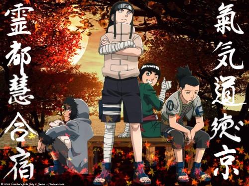 Masashi Kishimoto, Studio Pierrot, Naruto, Neji Hyuuga, Kiba Inuzuka Wallpaper