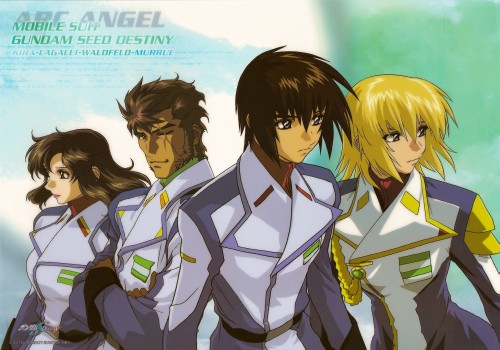 Sunrise (Studio), Mobile Suit Gundam SEED Destiny, Cagalli Yula Athha, Andrew Waltfeld, Murrue Ramius