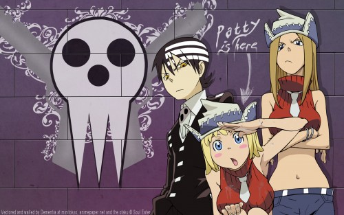 Soul Eater, Patty Thompson, Liz Thompson, Death The Kid Wallpaper