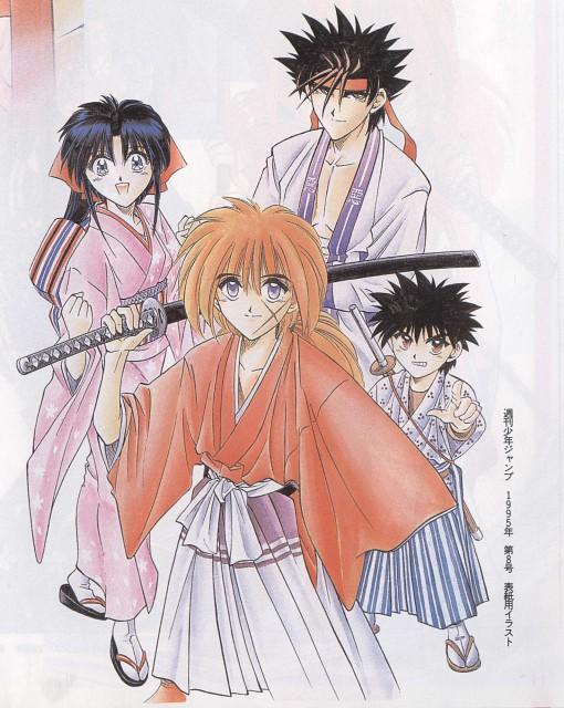 Nobuhiro Watsuki, Rurouni Kenshin, Kaoru Kamiya, Yahiko Myoujin, Kenshin Himura
