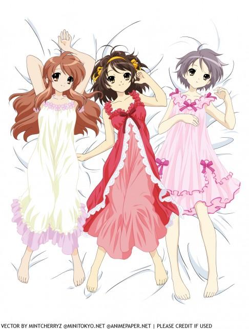 Kyoto Animation, The Melancholy of Suzumiya Haruhi, Yuki Nagato, Mikuru Asahina, Haruhi Suzumiya