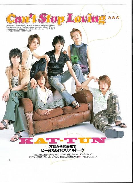 Kazuya Kamenashi, Yuichi Nakamaru, Tatsuya Ueda, Koki Tanaka, Junnosuke Taguchi