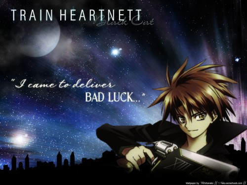 Kentaro Yabuki, Gonzo, Black Cat, Train Heartnet Wallpaper