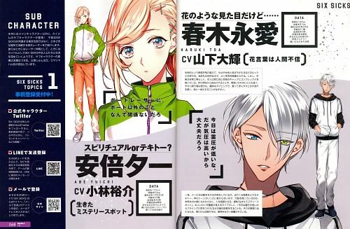 Six Sicks, B's-Log, Character Sheet, Magazine Page