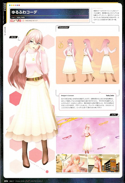 Project Diva F & F Memorial Fan Book, Vocaloid, Luka Megurine, Character Sheet