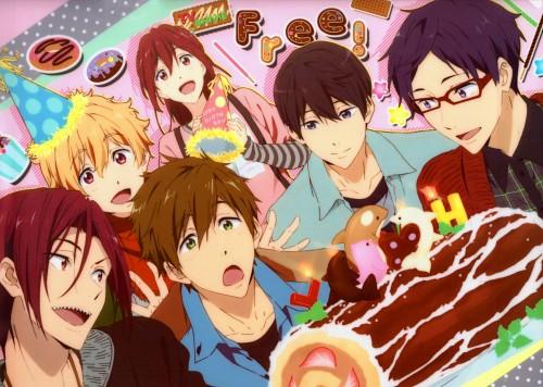 Kyoto Animation, Free!, Makoto Tachibana, Rin Matsuoka, Nagisa Hazuki