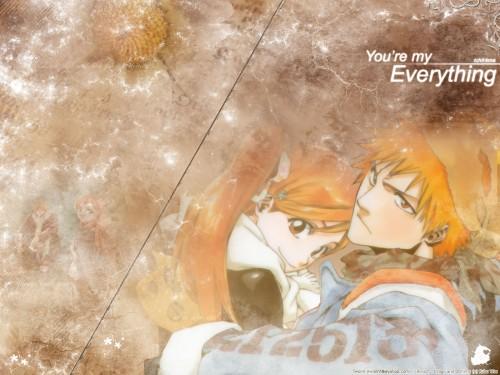 Kubo Tite, Studio Pierrot, Bleach, Ichigo Kurosaki, Orihime Inoue Wallpaper