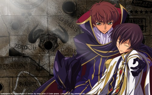 Lelouch of the Rebellion, Suzaku Kururugi, Lelouch Lamperouge Wallpaper