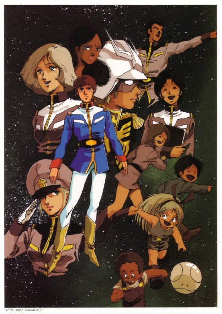 Haruhiko Mikimoto, Sunrise (Studio), Mobile Suit Gundam - Universal Century, Mobile Suit Gundam 0079, Bright Noah