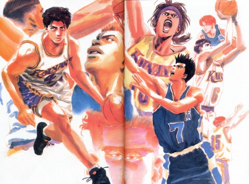 Takehiko Inoue, Slam Dunk, Inoue Takehiko Illustrations, Akira Sendo, Koshino Hiroaki