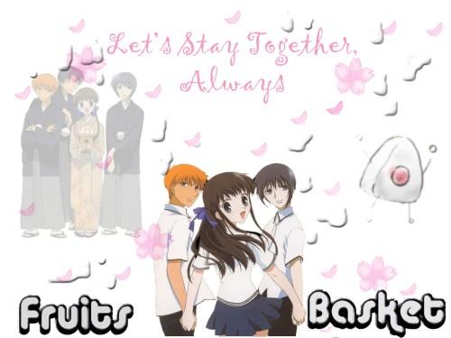 Natsuki Takaya, Fruits Basket, Shigure Sohma, Yuki Sohma, Kyo Sohma Wallpaper