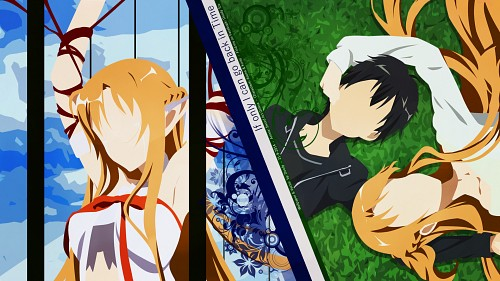 Abec, A-1 Pictures, Sword Art Online, Asuna Yuuki, Kazuto Kirigaya Wallpaper