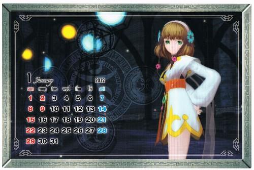 Xebec, Namco, Tales of Xillia, Calendar
