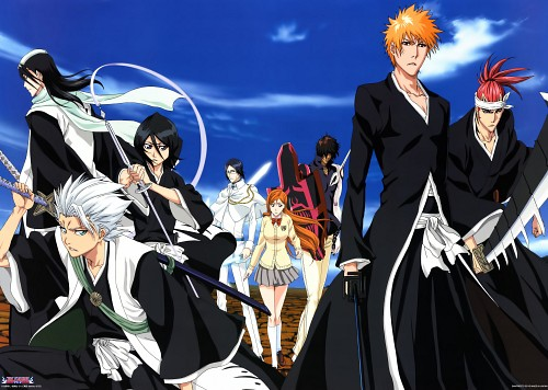 Studio Pierrot, Bleach, Toshiro Hitsugaya, Ichigo Kurosaki, Rukia Kuchiki
