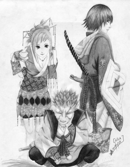 Naruto, Naruto Uzumaki, Sakura Haruno, Sasuke Uchiha, Member Art