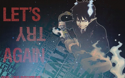 Kazue Katou, A-1 Pictures, Ao no Exorcist, Rin Okumura Wallpaper