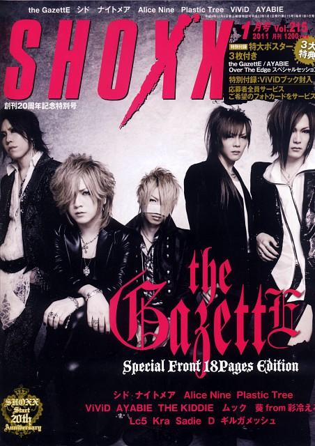 Gazette, Uruha, Aoi (J-Pop Idol), Reita, Kai