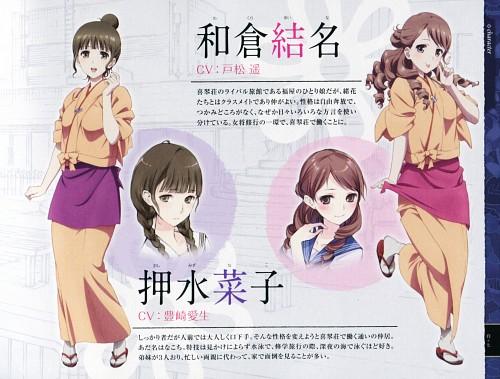 P.A. Works, Hanasaku Iroha, Yuina Wakura, Nako Oshimizu, Character Sheet