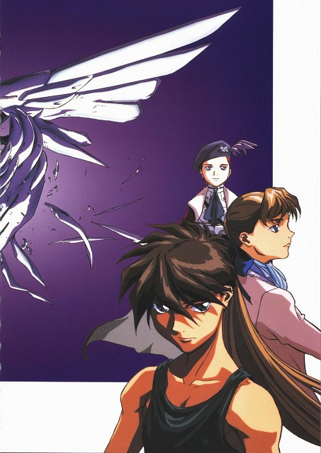 Sunrise (Studio), Mobile Suit Gundam Wing, Mariemaia Khushrenada, Relena Peacecraft, Heero Yuy