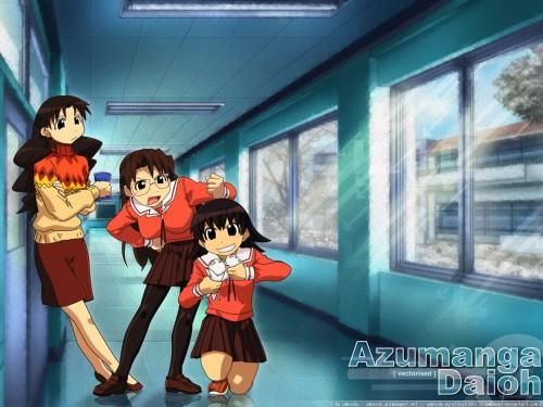 Kiyohiko Azuma, J.C. Staff, Azumanga Daioh, Yukari Tanizaki, Koyomi Mizuhara Wallpaper