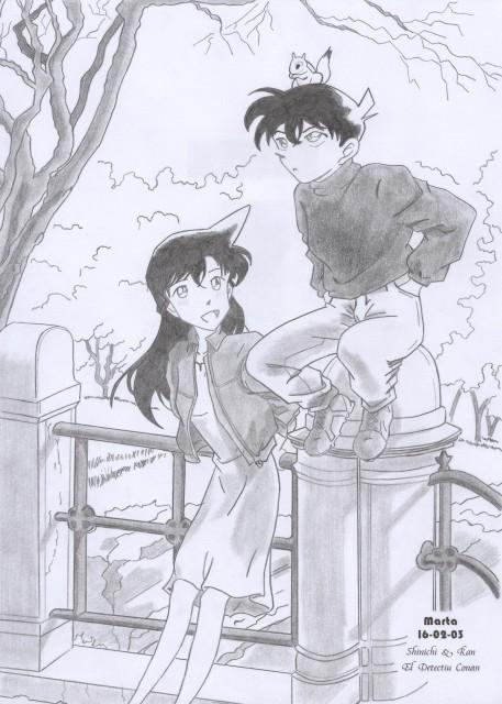 Detective Conan, Ran Mouri, Shinichi Kudou, Member Art