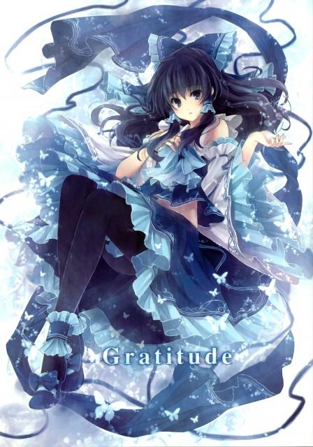 Rin Hagiwara, Gratitude, Touhou, Reimu Hakurei, Artbook Cover