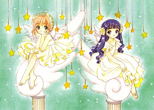 CLAMP, Cardcaptor Sakura, Cardcaptor Sakura Illustrations Collection 2, Sakura Kinomoto, Tomoyo Daidouji