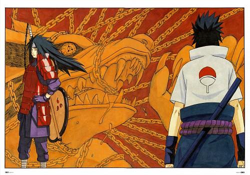 Masashi Kishimoto, Naruto, NARUTO Illustrations, Madara Uchiha, Sasuke Uchiha