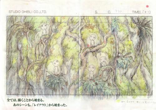 Studio Ghibli, Princess Mononoke, Kodama