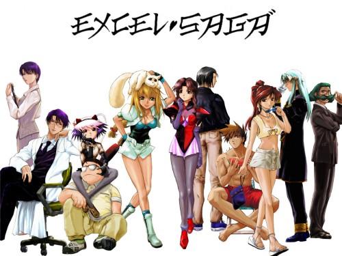 Koshi Rikudo, J.C. Staff, Excel Saga, Hyatt, Menchi Wallpaper