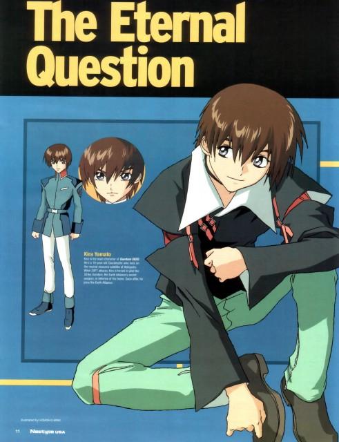 Sunrise (Studio), Mobile Suit Gundam SEED, Kira Yamato, Character Sheet, Newtype Magazine