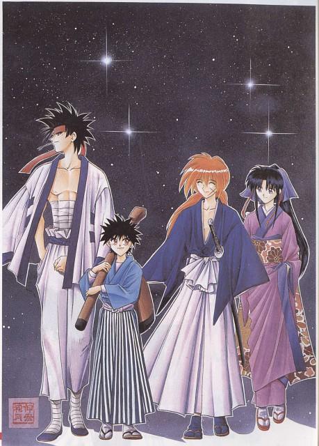 Nobuhiro Watsuki, Rurouni Kenshin, Kaoru Kamiya, Kenshin Himura, Yahiko Myoujin