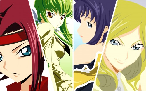 Lelouch of the Rebellion, Kallen Stadtfeld, Milly Ashford, Cecile Croomey, C.C. Wallpaper