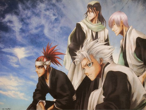 Kubo Tite, Studio Pierrot, Bleach, Toshiro Hitsugaya, Gin Ichimaru Wallpaper