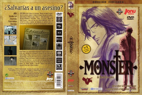 Naoki Urasawa, Madhouse, Monster, Kenzo Tenma, DVD Cover
