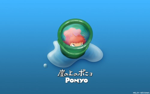 Studio Ghibli, Gake no Ue no Ponyo, Ponyo, Vector Art Wallpaper