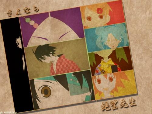 Kouji Kumeta, Shaft (Studio), Sayonara Zetsubou Sensei, Kafuka Fuura, Tarou Sekiutsu Wallpaper