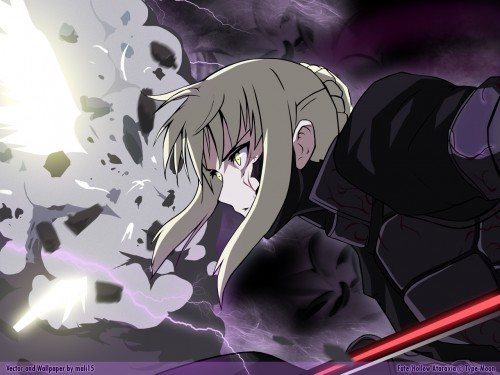 TYPE-MOON, Studio Deen, Fate/Hollow ataraxia, Fate/stay night, Saber Alter Wallpaper