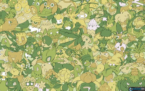 Nintendo, OLM Digital Inc, Pokémon, Bulbasaur, Chikorita Wallpaper